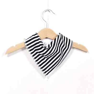 MONOCHROME STRIPED BIB - Funky Monochrome print Mama and baby gift hamper set for baby girl or boy