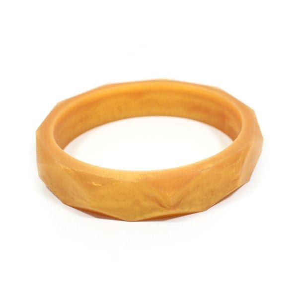 gold bangle - GEOMETRIC silicone teething bangle bracelet Metallic Gold
