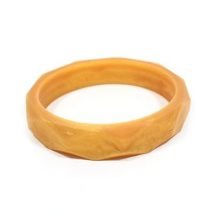 gold bangle - GEOMETRIC silicone teething bangle bracelet Metallic Gold