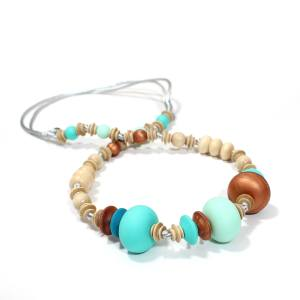 Anthropologist nursing teething necklace 2017 mint 5 - Anthropologist Bohemian turquoise wood silicone teething necklace