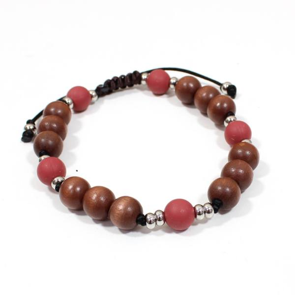 Papa Jewels mens bracelet Willis wine 2 - Willis Marsala red Mens silicone baby proof bracelet