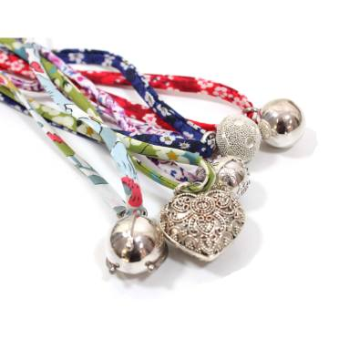 BOLA chime necklace on liberty cord lo - Liberty cord for your sterling silver bola necklace