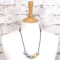 GEOBEADS MARBLE WOOD 2 1 - Marble natural wood GEO BEADS silicone teething necklace