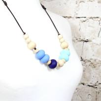 Gilly Blues 1 - Gilly silicone teething necklace Blues