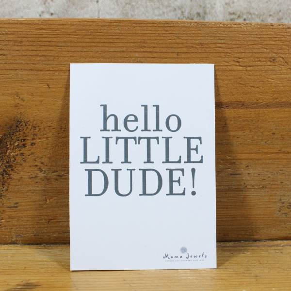 hello dude - FREE Gift message card 'Hello Little Dude'