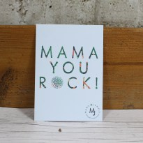 mAMA YOU ROCK NEW CARD 2 - FREE Gift message card 'Mama you rock!'