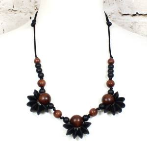 Floral Design Wooden Teething necklaces