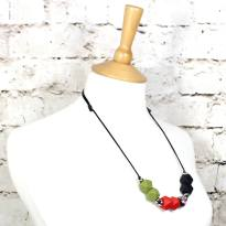 olive red betsy 2018 1 - Red Olive flora GEO BEADS silicone teething necklace