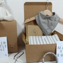 IMG 1794 - Mum and baby gift hamper set for baby girl or boy calming grey bunny