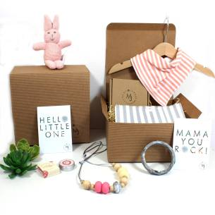 pink bunny mum and baby hamper 2018 1 - Mum and baby gift hamper set for baby girl pink bunny