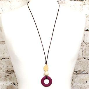 milo malbec teething necklace 2 - MILO Silicone Teething ring necklace in Malbec red