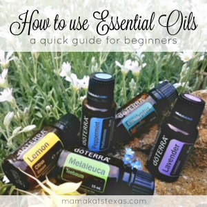 how to use essential oils beginners