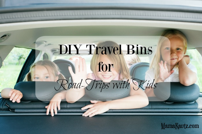 DIY Travel Bins for Road-trips with Kids
