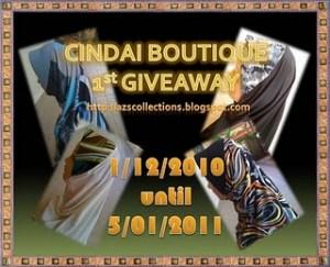 Cindai Boutique 1st Giveaway