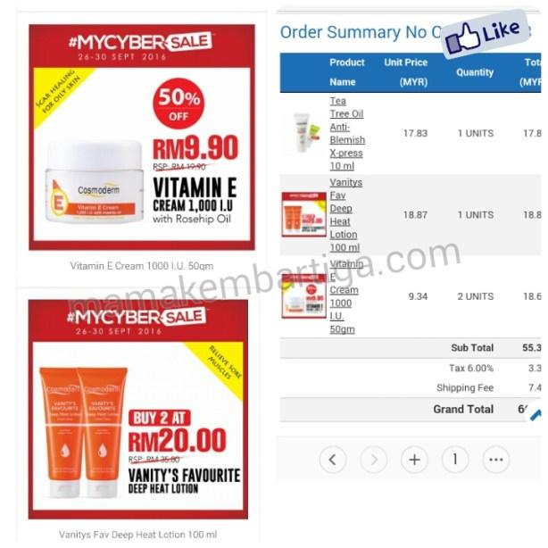 Vitamin E Cream Cosmoderm murah