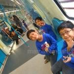 Seronok Si Kembar Naik MRT Percuma