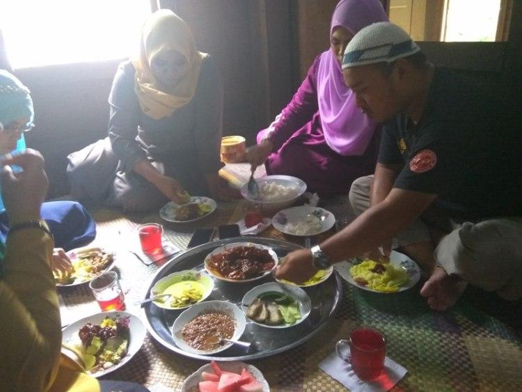 makan bersila Muzium Warisan Melayu UPM