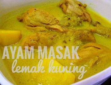 resepi Ayam Masak Lemak Kuning