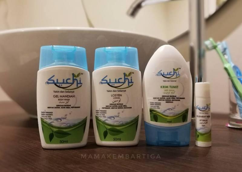 Suchi travel set kosmetik umrah dan haji