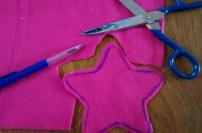 stap 1: sterren uitknippen