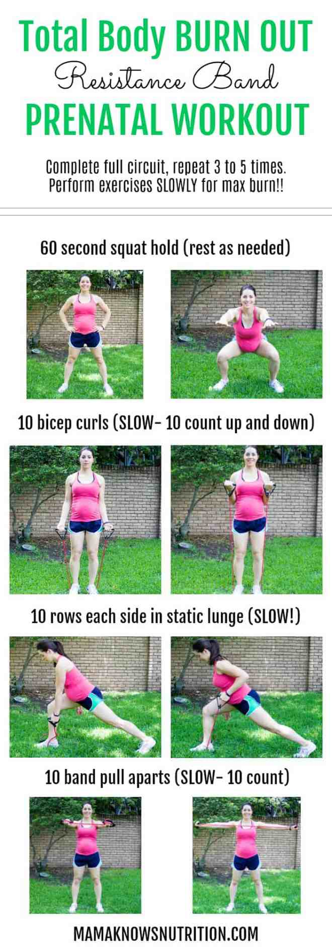 Pregnancy Workout Total Body BURN OUT | mamaknowsnutrition.com