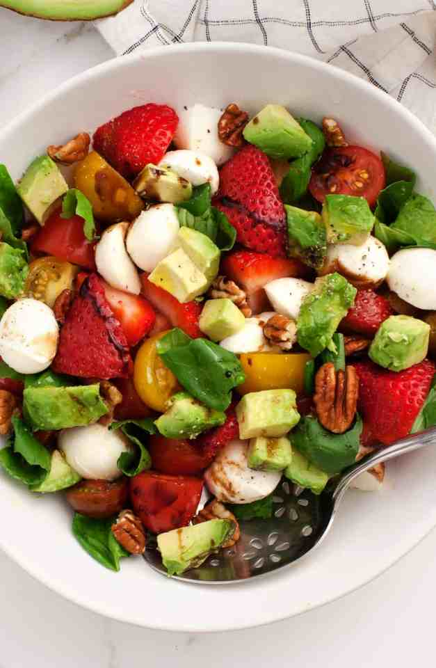 Love and Lemons Strawberry Avocado Caprese