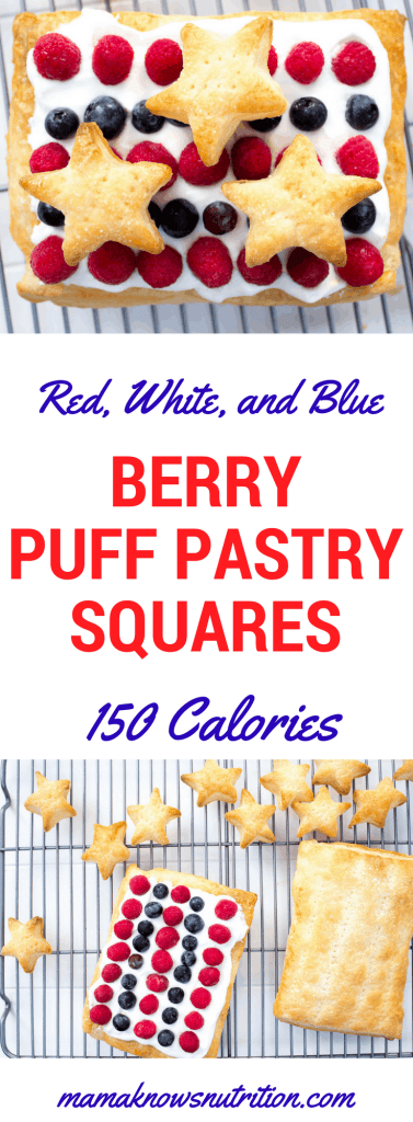 Summer Berry Puff Pastry Squares {Only 150 calories!} | mamaknowsnutrition.com