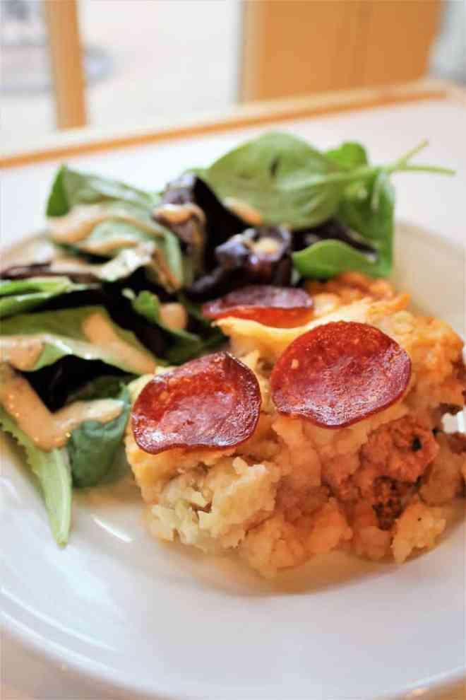 Paleo Skillet Pizza Shepherd's Pie | mamaknowsnutrition.com