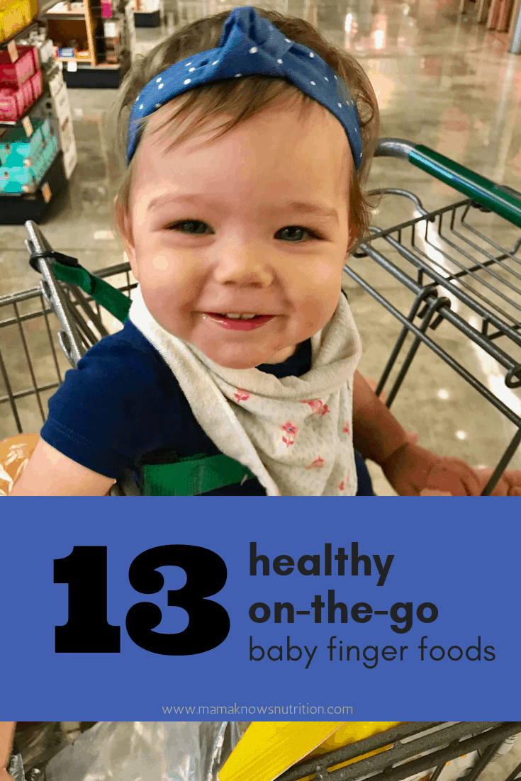 Healthy On-The-Go Baby Foods {BLW-Friendly} | www.mamaknowsnutrition.com