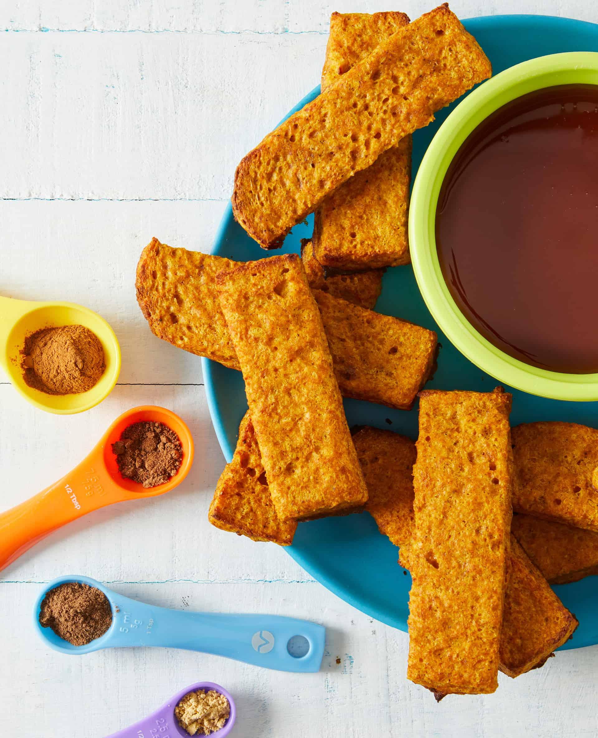 pumpkin french toast sticks   Little Helpers Toddler Cookbook