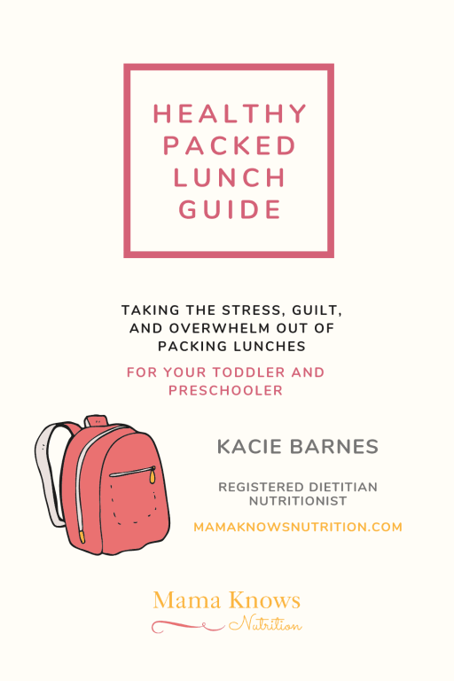 healthy packed lunch guide for toddlers and preschoolers