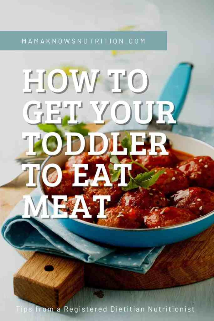 how to get your toddler to eat meat pinterest