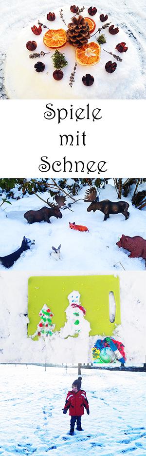 Spielen im Winter - Spiele mit Schnee