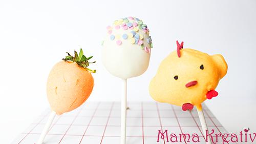 Cake Pops zu Ostern backen: Osterei, Hase, Küken, Karotte