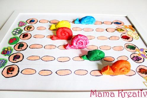 tempo kleine schnecke brettspiele spiele selber machen kinder kindergarten farbllernspiel farben lernen farbenspiel
