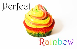 Regenbogen Cupcakes mit Regenbogen Frosting + Video