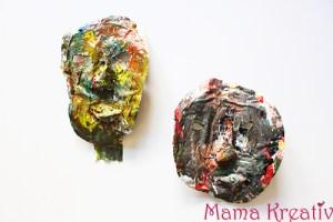 Afrikanische Masken aus Pappmaché