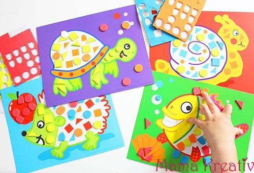 Feinmotorik spiele für kleinkinder mosaik legen