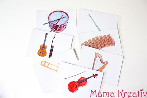 Bildkarten für Musikinstrumente selber machen