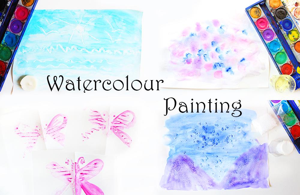 5 ideen zum malen mit wasserfarben für kinder video