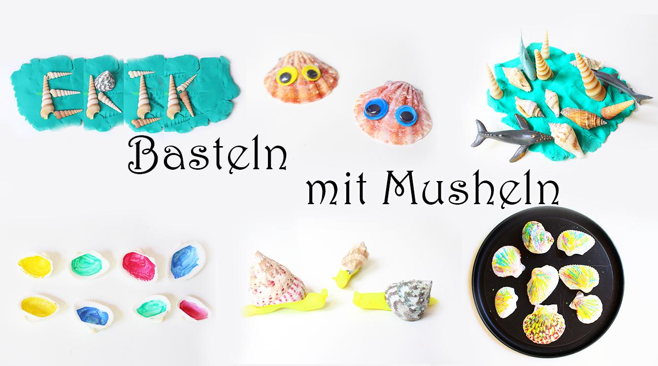 Basteln und spielen mit Muscheln mit kindern kindergarten