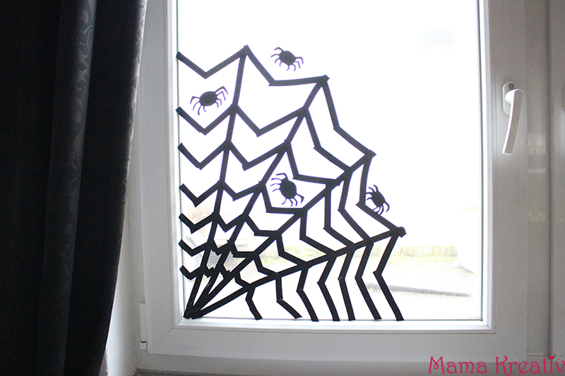 Fensterdeko Halloween Spinnennetz