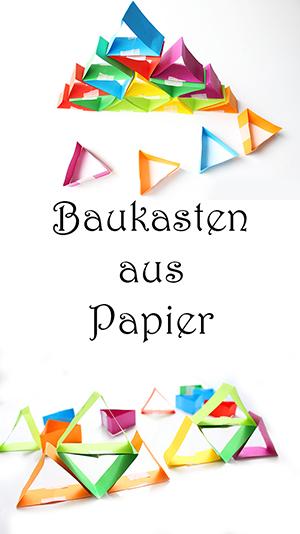 Spiele basteln. Baukasten aus Papier basteln. Bauen und Konstruieren mit Kindern