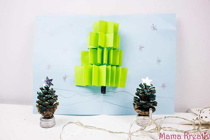 weihnachtskarten basteln mit kindern 5 schnelle ideen. Black Bedroom Furniture Sets. Home Design Ideas