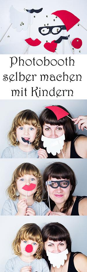 Silvester mit Kindern - DIY Photobooth - Party-Bilder machen - basteln Silvester