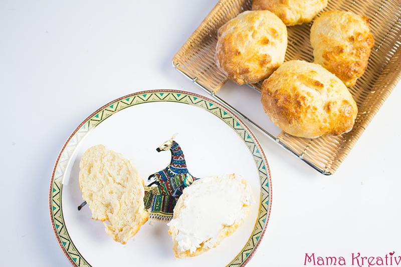 20 Minuten Brötchen schnelle Kinder Brötchen backen Quark Brütchen Joghurt Scones (2)