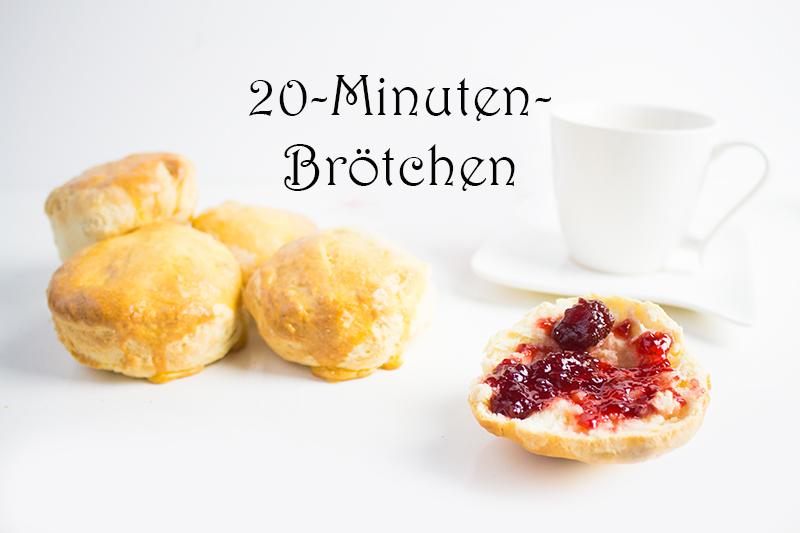 20-Minuten-Brötchen: 2 Rezepte wenn es schnell gehen muss