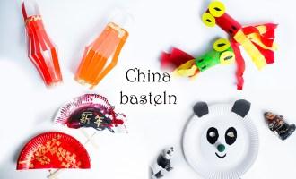 China basteln mit Kindern Drache Laterne Fächer Panda