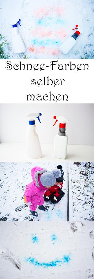 Spielen im Winter mit Kindern draußen - DIY Spiele mit Schnee - Schnee Farben selber machen