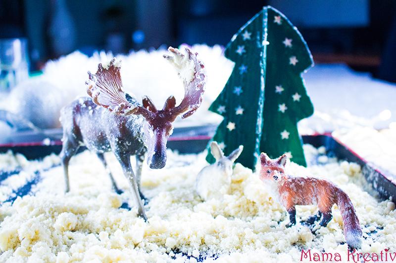 schnee selber machen aus windeln starke öl rasierschaum (1)